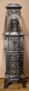 Anker Heergaard square antique stove with oven