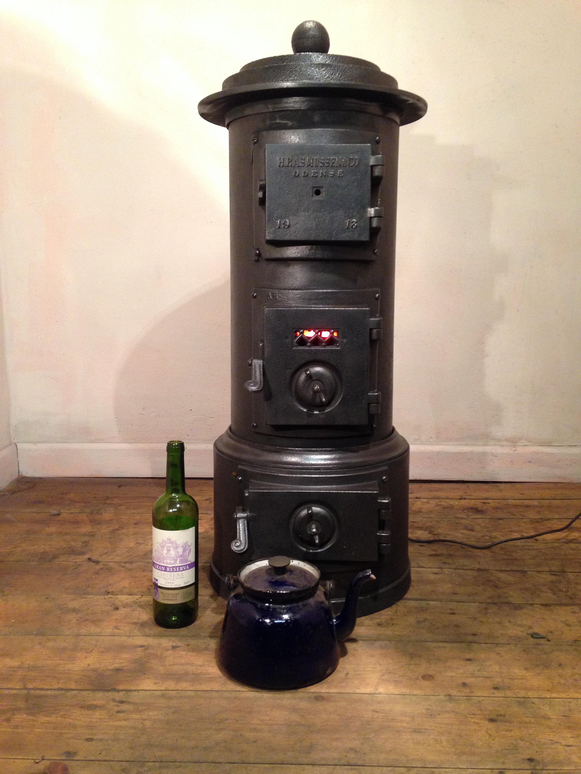 Rasmussen short 'Flat Hat' stove