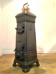 Antique Llange short square stove